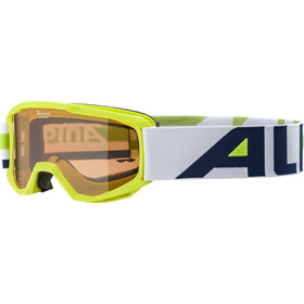 Alpina Piney Masque Enfant, lime/orange